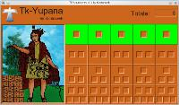 Tk-Yupana screenshot (Glynn's Theory): Positional System in base 10 (empty table, representing number zero)