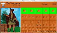 Tk-Yupana screenshot (Glynn's Theory) - Positional System in base 10 (representing number 1834)